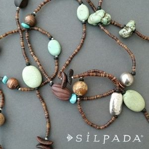 Silpada Long Stone & Bead N1569